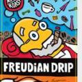 Coloful rendition of Freud on Jittery Joes coffee can Freudian Drip